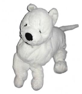 Doudou peluche CHIEN blanc IKEA RUFFIG White dog Plush 40 cm