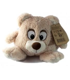 peluche-tete-ours-beige-max-et-sax-20-cm-carrefour
