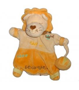 Doudou Marionnette LION orange beige BABY NAT' Babynat Adam adore le Cirque