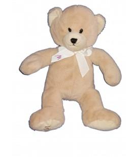 Doudou Peluche Ours beige Marionnaud 34 cm