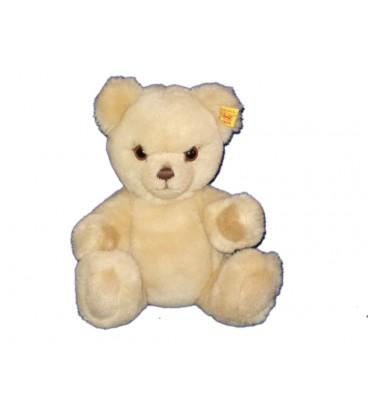 Doudou Peluche Ours beige articulé Steiff assis 22 cm