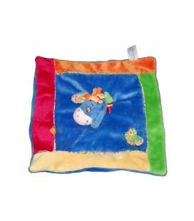 Doudou plat BOURRIQUET Bleu vert orange Fleur Disney Baby Abeilles 587/0069