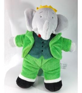 Peluche Doudou Elephant Babar 26 cm Les aventures de Badou Lansay