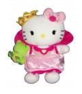 Peluche Hello Kitty Princesse avec sa grenouille 25 cm