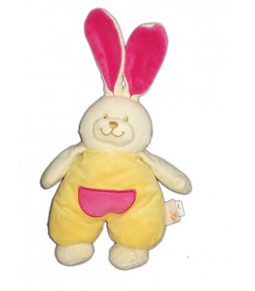 doudou-lapin-jaune-rose-les-maternelles-grelot-abeille-28-cm-oreilles-levees