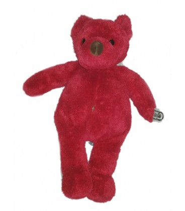 vintage-peluche-ours-rouge-ajena-nounours-38-cm-neuf-rare-et-collector