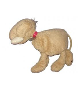 Doudou Peluche chien beige Les Comptines Jacadi 24 cm