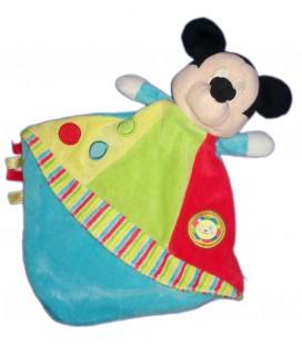 Doudou plat bleu rouge vert Mickey Lion Disney Nicotoy