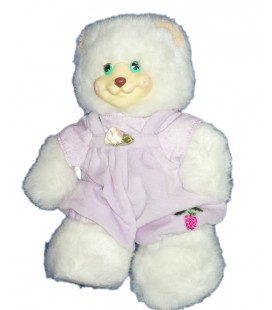 Peluche Ours blanc Berry Beth Fisher Price 25 cm 1998
