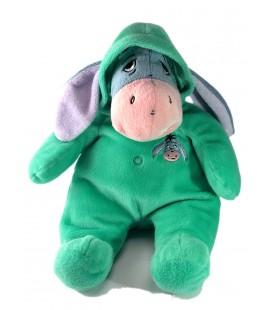 Doudou Peluche BOURRIQUET Combinaison pyjama vert 36 cm
