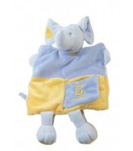 Doudou Marionnette éléphant mauve jaune E Comme... Baby Nat'