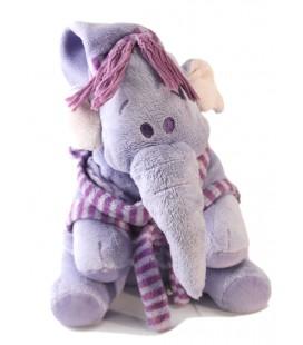 Doudou peluche Lumpy 24 cm Disney Nicotoy Bonnet robe de chambre peignoir mauve 587/5033