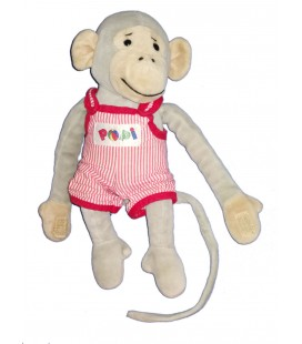plush-comforter-monkey-popi-26-cm-scratches-ajena-nounours-bayard-press-1999
