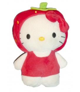 Peluche doudou HELLO KITTY Fraise H & M Sanrio 16 cm
