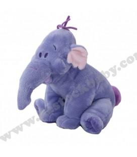Doudou peluche LUMPY Efelant Elephant mauve 22 cm Disney Nicotoy