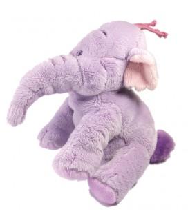 Doudou peluche Lumpy 18 cm Disney Nicotoy 587/3493 éléphant mauve