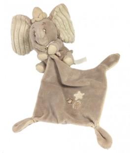Doudou Dumbo Mouchoir gris beige étoiles