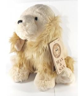 Peluche Doudou chien beige Max et Sax 25 cm Carrefour