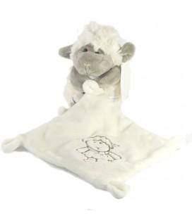 Kiabi Doudou Agneau Mouton blanc gris 20 cm Mouchoir I2C