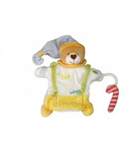 Doudou marionnette OURS Noé adore les Sucreries - BaBY NaT Babynat
