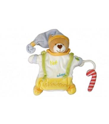 Doudou marionnette OURS Noe adore les Sucreries Baby Nat