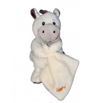 Doudou Zèbre cheval blanc - BaBY NaT Babynat Mouchoir 17 cm