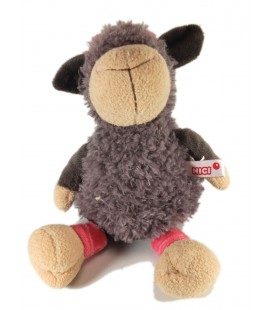 Plush soft toy Sheep gray pink NICI 30 cm