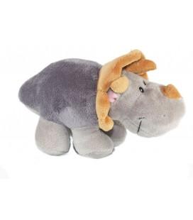 Doudou Peluche Rhinoceros Gris NICI 20 cm
