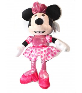 Peluche Minnie robe rose Pois Strass 45 cm Disney PTS SRL