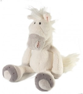 Doudou Peluche cheval blanc NICI 35 cm
