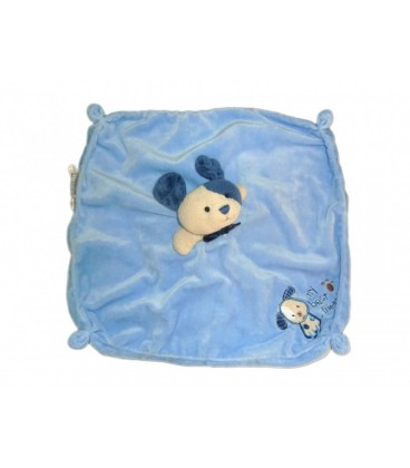 Doudou plat CHIEN bleu CaRTER'S My Best Friend - Grelot - Dog Baby Comforter