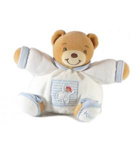 Kaloo - Doudou ours blanc bleu Enfant bonhomme boule 18 cm