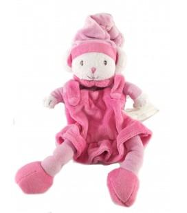 Doudou Souris rose Bonnet Kimbaloo 22 cm