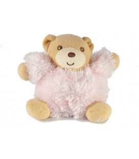 Mini doudou Kaloo Ours rose fourrure Fur 10 cm