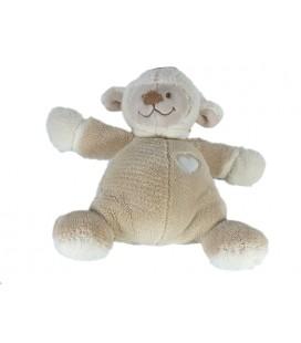 Doudou Mouton beige coeur Nattou 20 cm Grelot