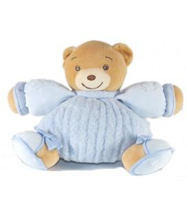 KALOO - Doudou boule OURS bleu Enfants brodés Petits noeuds 15 cm