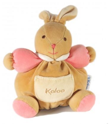 kaloo doudou boule lapin beige rose poche 20 cm. Black Bedroom Furniture Sets. Home Design Ideas