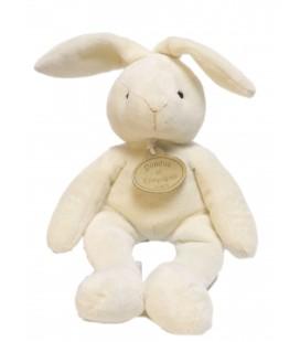 Doudou et Compagnie - Lapin blanc crème écru 24 cm