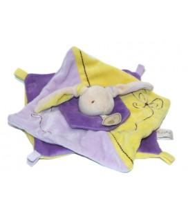 Baby Nat Doudou lapin jaune violet mauve