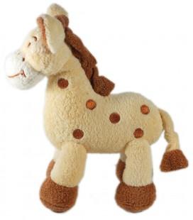 Doudou Girafe beige marron Natalys 22 cm