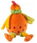 Doudou Peluche Poule orange Nature et Découvertes 26 cm