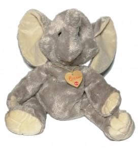 Doudou peluche Eléphant gris Bussi Trudi 42 cm