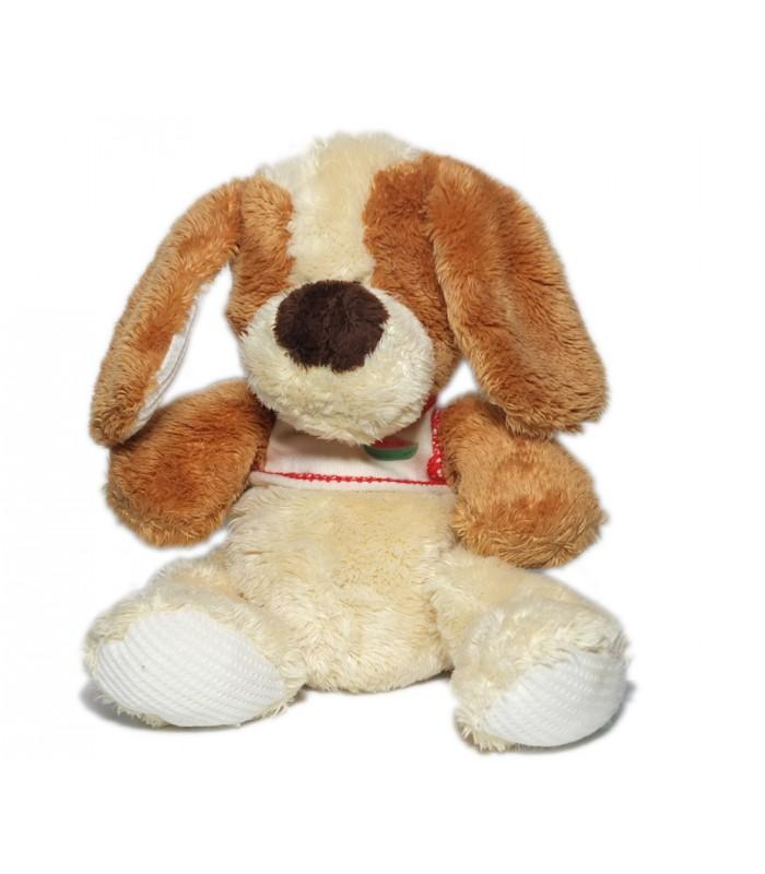 peluche doudou chien marron beige clair blanc cass cr me trudi 24 cm. Black Bedroom Furniture Sets. Home Design Ideas