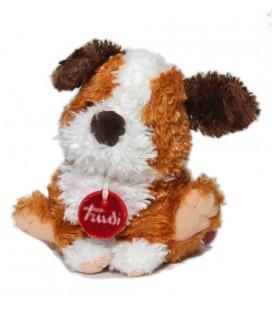 Peluche Doudou Chien marron roux blanc Trudi 16 cm