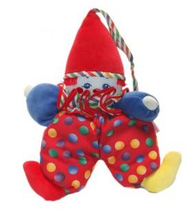 Doudou d'activité Eveil Clown Corolle Tissu pois Grelot 35 cm