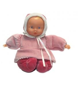 Doudou poupée Poupon Babypouce rose Corolle 2003 30 cm