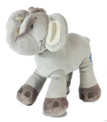 Doudou Elephant gris MOTS D ENFANTS 18 cm