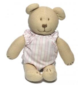 Doduou beige chemise rayée rose blanc Jacadi 26 cm
