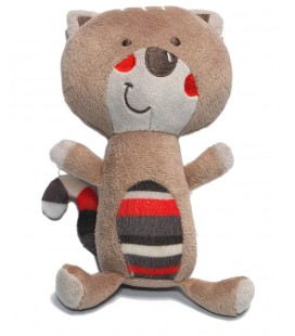 Doudou peluche Chat gris rayures Orchestra 24 cm
