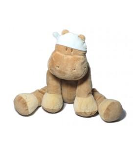 Noukies - Doudou Hippopotame beige assis 27 cm